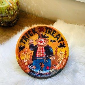 🦋2/$10 3/$15 4/$18 5/$20 Vintage Scarecrow Metal Tray